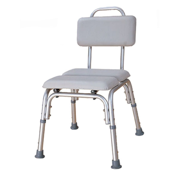 Padded Bath Chair with water tight cushioned seat & backrest
